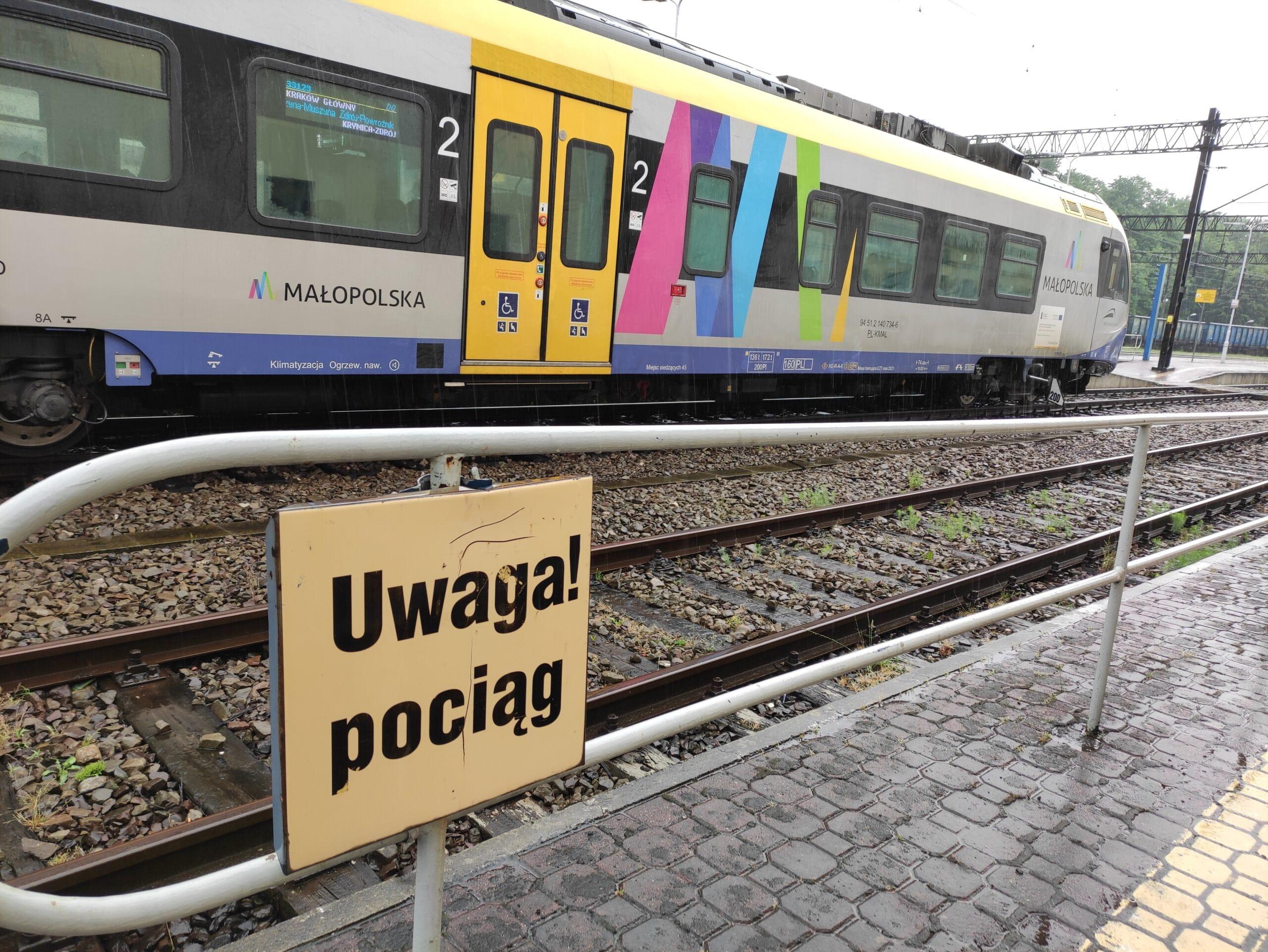 Pociąg Kolei Małopolskich