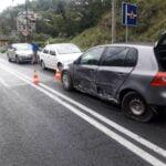 Zderzenie trzech samochodów w Żegiestowie
