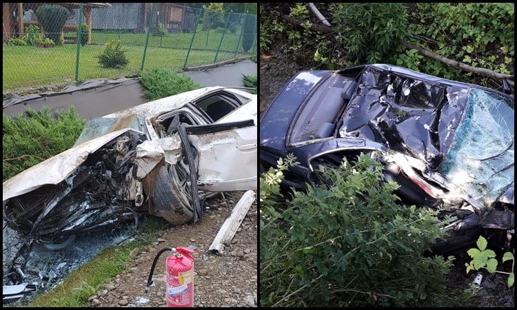 Śmierć dwóch młodych kierowców, rowerzysty i pasażerki. Tragiczny obraz wakacji na sądeckich drogach