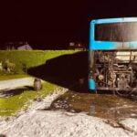 Pożar autokaru na Kąclowej