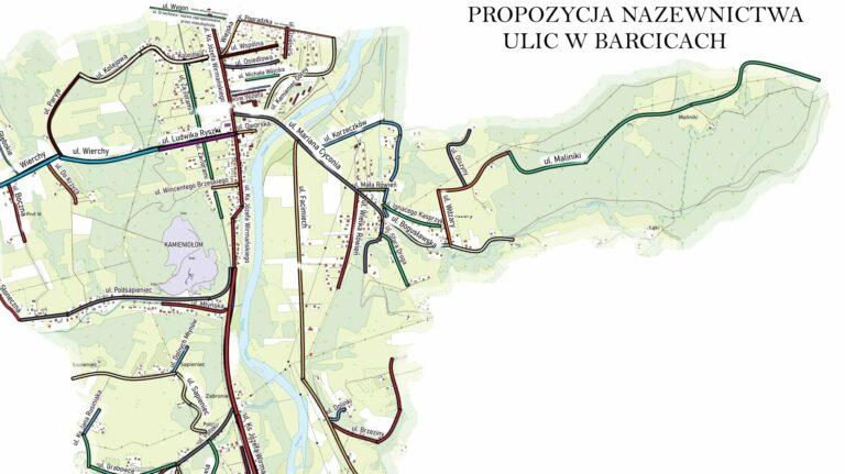Barcice. Koniec z bezimiennymi drogami! Mieszkańcy wymyślili nazwy dla ulic. Jedna z nich upamiętni Mariana Cyconia