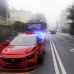 Krynica-Zdrój - zderzenie samochodów