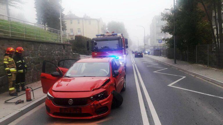 Krynica-Zdrój. Zderzyły się trzy samochody osobowe
