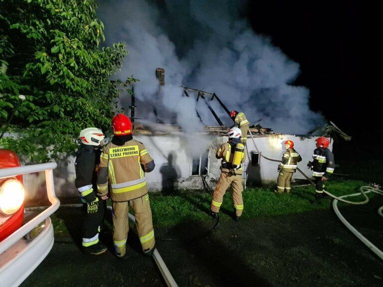 Nocne pożary w Brzeznej i Młodowie