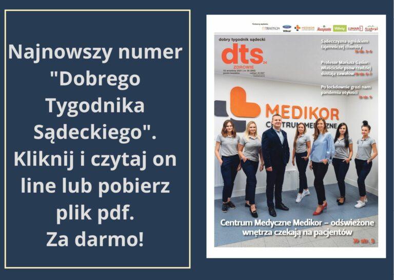 """Najnowszy numer """"Dobrego Tygodnika Sądeckiego"""" – Zdrowie"""