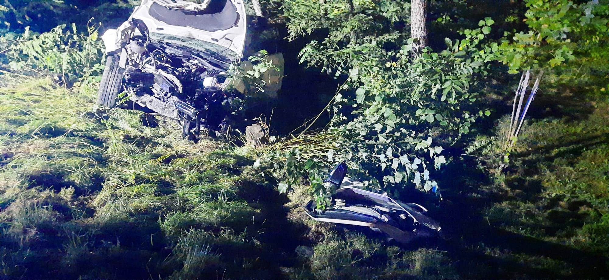 Zabrzeż - zderzenie dwóch samochodów